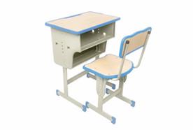 单人单柱双层课桌椅