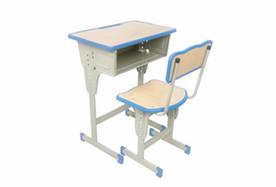 单人单柱单层课桌椅
