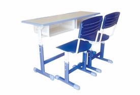 双人套管升降课桌椅