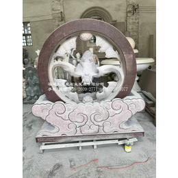 惠安园林景观厂家供应石雕风水球招财进宝风水环喷泉雕塑