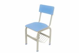 固定带蓝椅