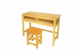 双人木质课桌凳