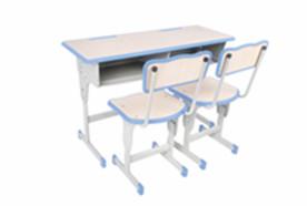 双人单柱单层课桌椅