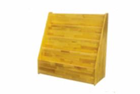 原木阶梯式书柜