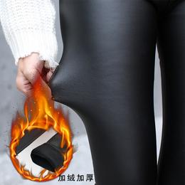 2017秋冬新产品久魅狐亚光超柔香水皮裤高腰皮裤女士
