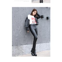 秋冬款新品加绒加厚保暖高腰瘦身提臀久魅狐亚光超柔香水皮裤