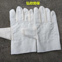 弘欣斜纹布耐磨手套斜纹布帆布防护手套潜山弘欣斜纹手套厂家定制