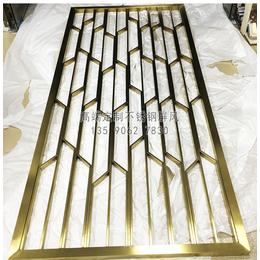 佛山亚博国际版古铜色不锈钢花格 别墅不锈钢屏风