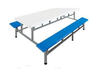 八位条凳玻璃钢餐桌