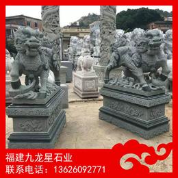 供应大型石雕麒麟 惠安石雕厂家麒麟雕塑制作 青石麒麟