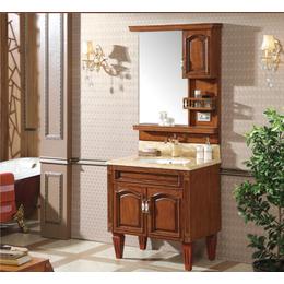 简欧式浴室柜红橡木仿古 落地开放漆雕花洗脸盆