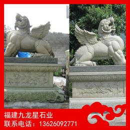 石雕貔貅供应厂家 青石貔貅 寺庙神兽雕刻