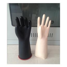 供应五指橡胶手套 电工绝缘手套 绝缘橡胶手套价格 冀航电力