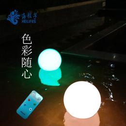 海粒子太阳能灯led发光球泳池灯加工