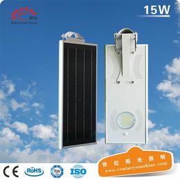 太阳能灯热款15W一体化感应庭院灯亮化户外照明LED智能灯具