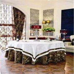 君康传奇新品上市餐厅布草 提花台布 餐厅婚庆椅套桌布椅套定制缩略图
