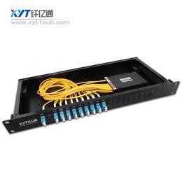 CWDM粗波复用器1U机架8通道 单多模光纤接头定制