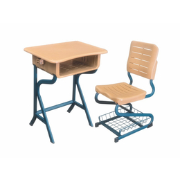 全新塑料单人课桌椅