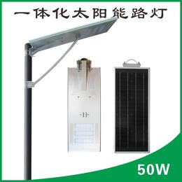 乡镇街道照明50W太阳能一体路灯不用电免维护智能户外照明灯具