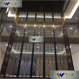 供应江苏别墅专用不锈钢屏风彩色不锈钢雕花屏风