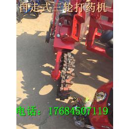 石家庄自走式高架玉米小麦玉米打药机 大型液压喷杆三轮打药图片