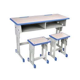 双柱双人升降学生课桌椅