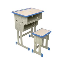 双柱双抽屉升降学生课桌椅