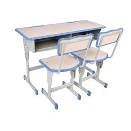 双柱双人升降学生课桌椅 厂家直销