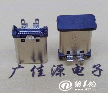 usb 3.1type c公头直立式180 度三支脚贴板插座图片