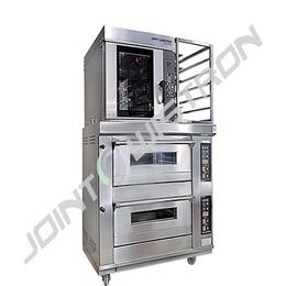 联合纬创系列 两层四盘电烤箱+5盘热风炉