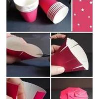 一次性纸杯手工制作简易纸盒的方法步骤