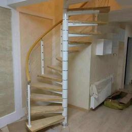中柱旋转楼梯 钢梯