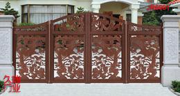 别墅无轨悬浮折叠门+保定市铝艺悬浮折叠门-久瑞门业