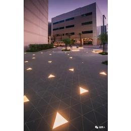 发光人行道地灯 LED景观钢化玻璃地砖灯生产厂家