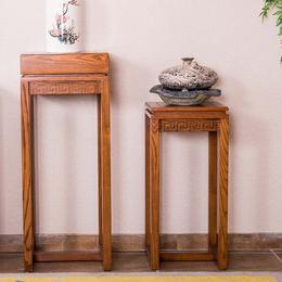 展博吧实木花架可定制新中式白蜡木纯实木工厂直销