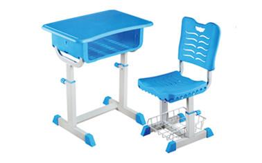旋鈕式手調升降塑料課桌椅