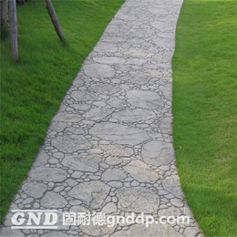 固耐德扇形石地坪材料水泥地坪印花地坪