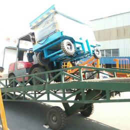 上海市3吨叉车装卸升降桥现货 星汉8吨液压登车桥直销