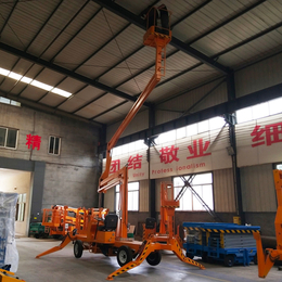 曲臂升降机 14米升降平台 广告牌安装升降车报价