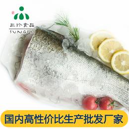 供应安徽巢三珍新鲜冷冻鲢鱼身 花白鲢 厂家直销批发