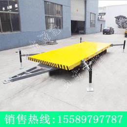 源隆定做各种8吨支腿平板拖车支腿式厂区板车带支腿的平板拖车