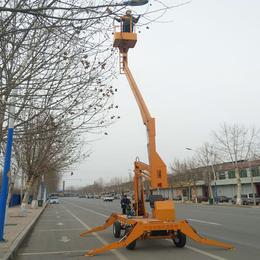 14米曲臂升降机 云梦县液压升降作业车现货 多角度举升机直销