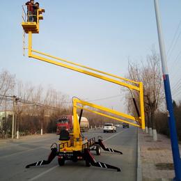14米曲臂升降機 漢川市柴油機升降作業車報價 液壓舉升機現貨