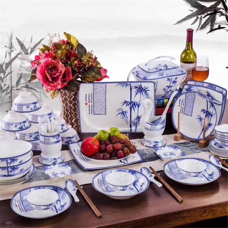 景盛瓷业70头板桥竹餐具