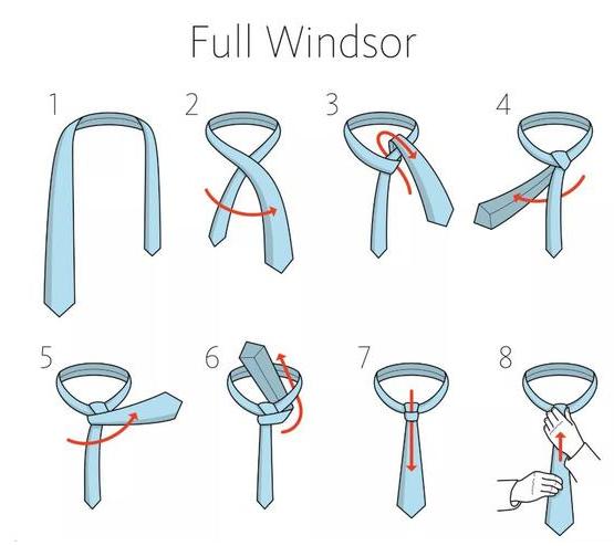 西服领带系法温莎结 Full Windsor