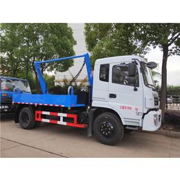 <em>程</em>力厂家供应10吨8吨摆臂式垃圾车+摆臂垃圾箱配置报价