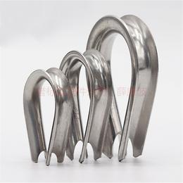 国标不锈钢鸡心环-钢丝绳专用套环厂家