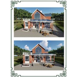 小二层轻钢装配式别墅 中欧式别墅房屋缩略图