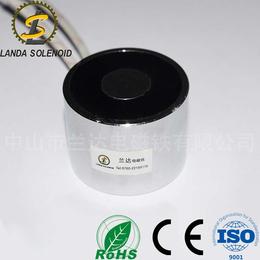 兰达亚博国际版圆形式电磁铁H4030螺纹孔M6   24VDC