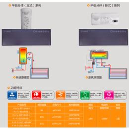 中科蓝天平板太阳能对市场的影响 小区阳台壁挂式太阳能热水器